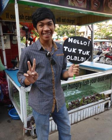 Siem Reap. Les chauffeurs de tuk-tuk. Intense mais sympathique.