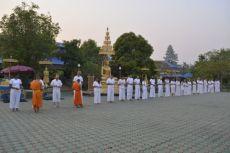 Un matin. 6h. On nourrit les monks.